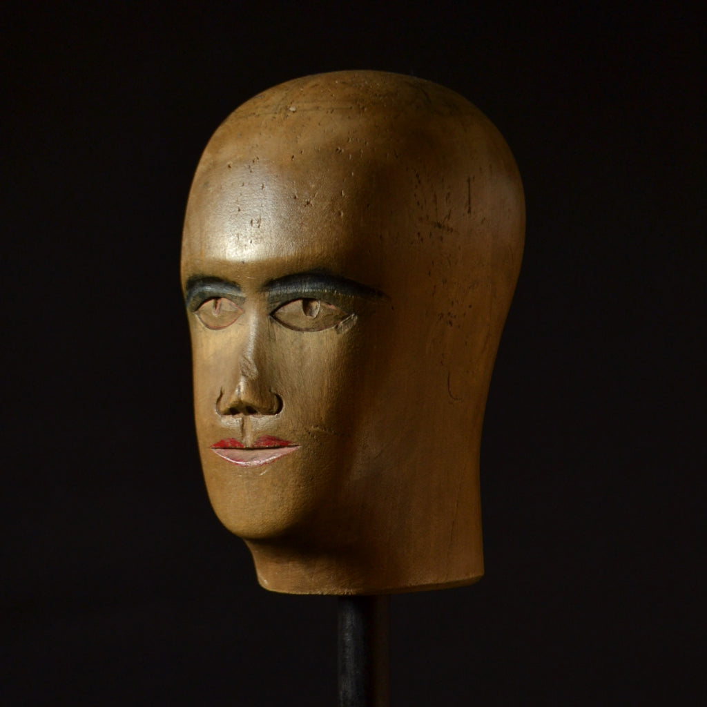A French Sycamore Milliners Mannequin head, Circa 1900