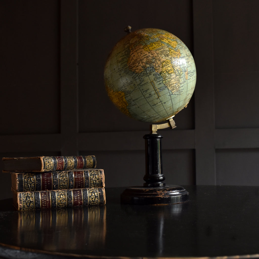 French Desk Top Terrestrial globe by G.Thomas.  Paris circa 1910