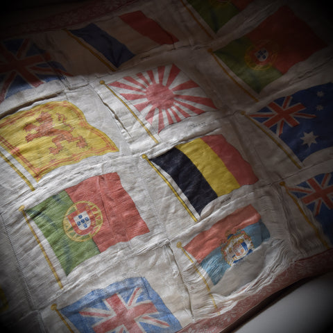 WW1 Silk Banner of World Flags, Circa 1912-1918