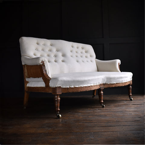 A Good 19th Century English Country House Two Seat Sofa. Upholstery inclusive.