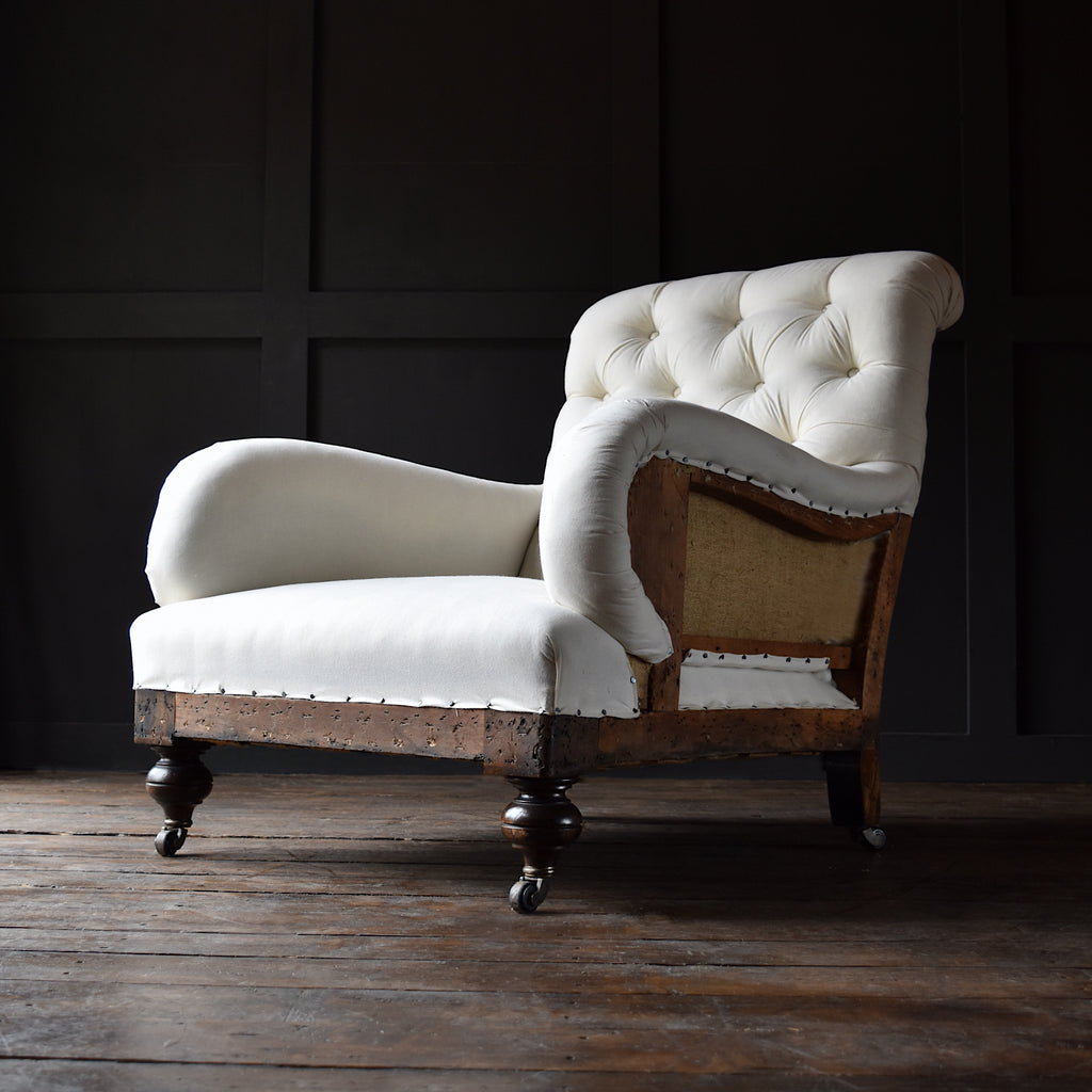English Country House Armchair in the manor of Howard and Sons. Upholstery Inclusive.