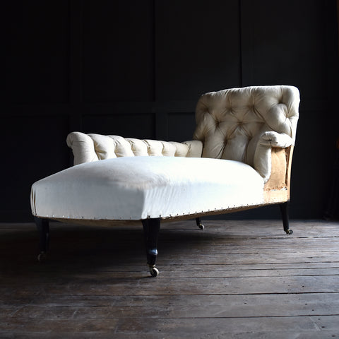 Superb 19th Century French Chaise Longue, Upholstery inclusive.