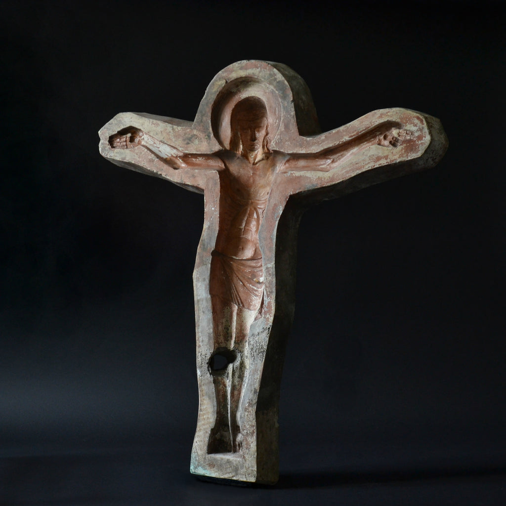 A Large Decorative French Plaster Mould Of Christ - Early 20th Century