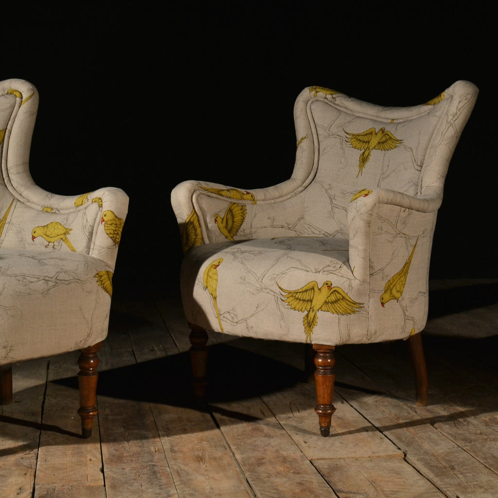 Wonderful Pair Of 19th Century Louis-Philippe Walnut Armchairs