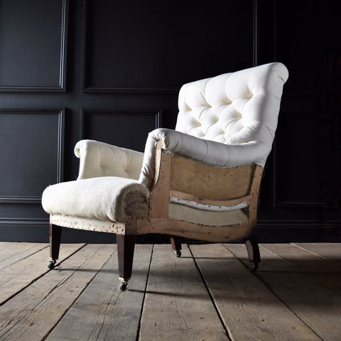 Smart English Country House Armchair, Upholstery Inclusive.