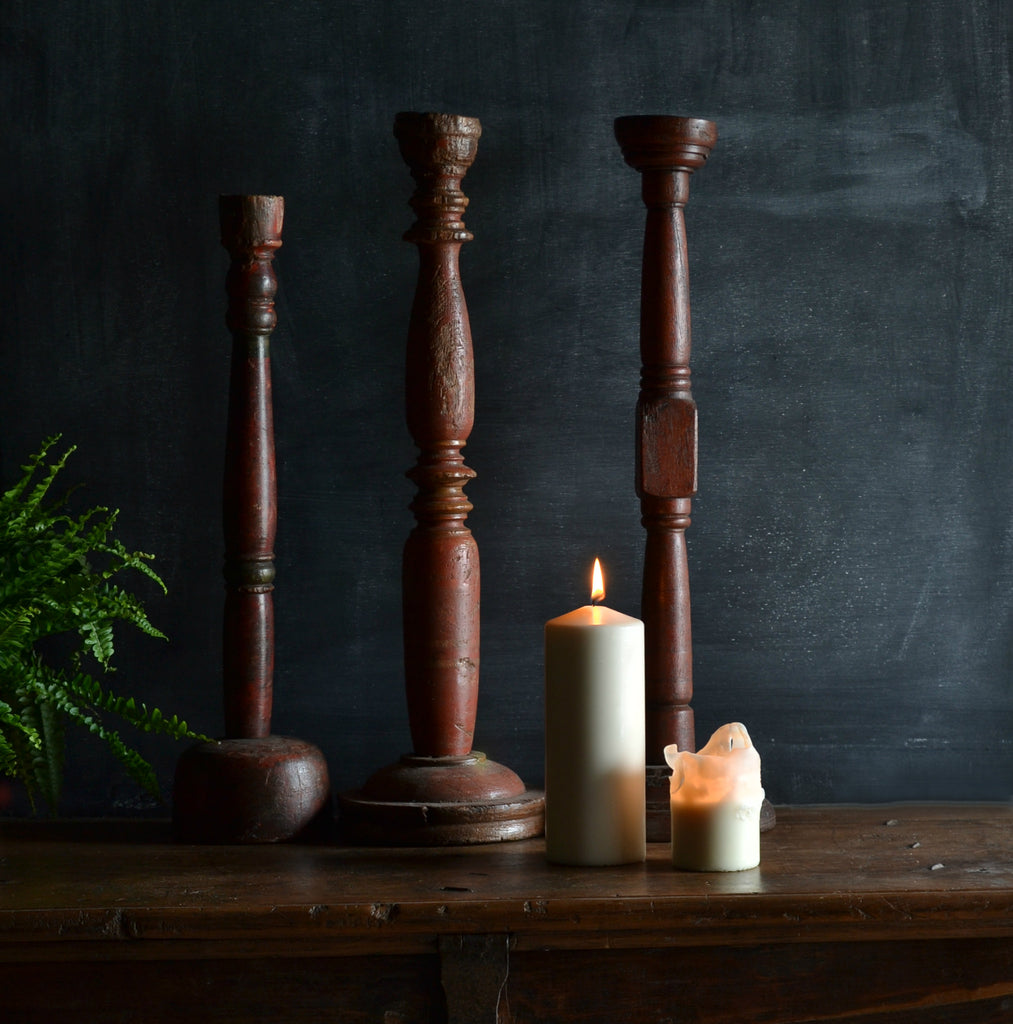 Three 18th Century Turban Stands Candle Sticks