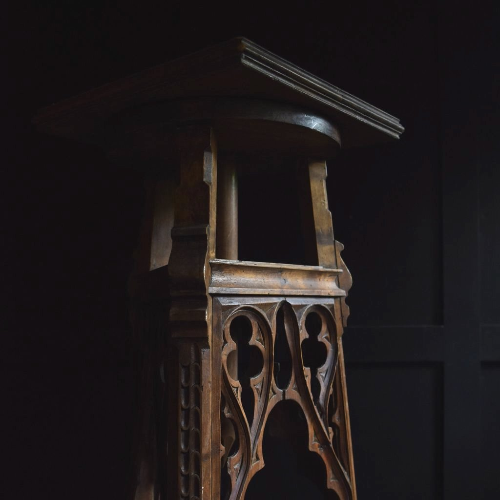 Excellent French gothic Revival Sculpture Stand, Circa 1880