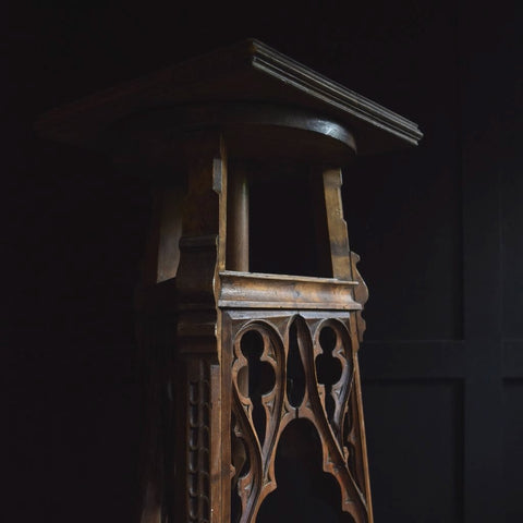 Excellent French gothic Revival Sculpture Stand, Circa 1880 'RESERVED'