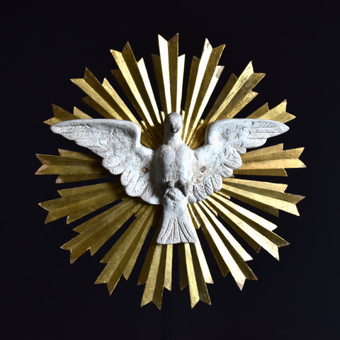 Early 20th Century Holy Spirit Dove Burst Alter Piece.