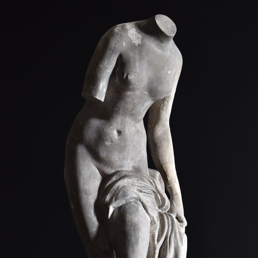 English Cast Plaster Statue of Venus de Milo, Circa 1880- 1900.