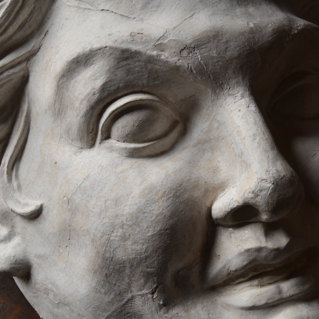 Large Plaster Head of Pan. Provenance: Savoy Hotel, Circa 1930