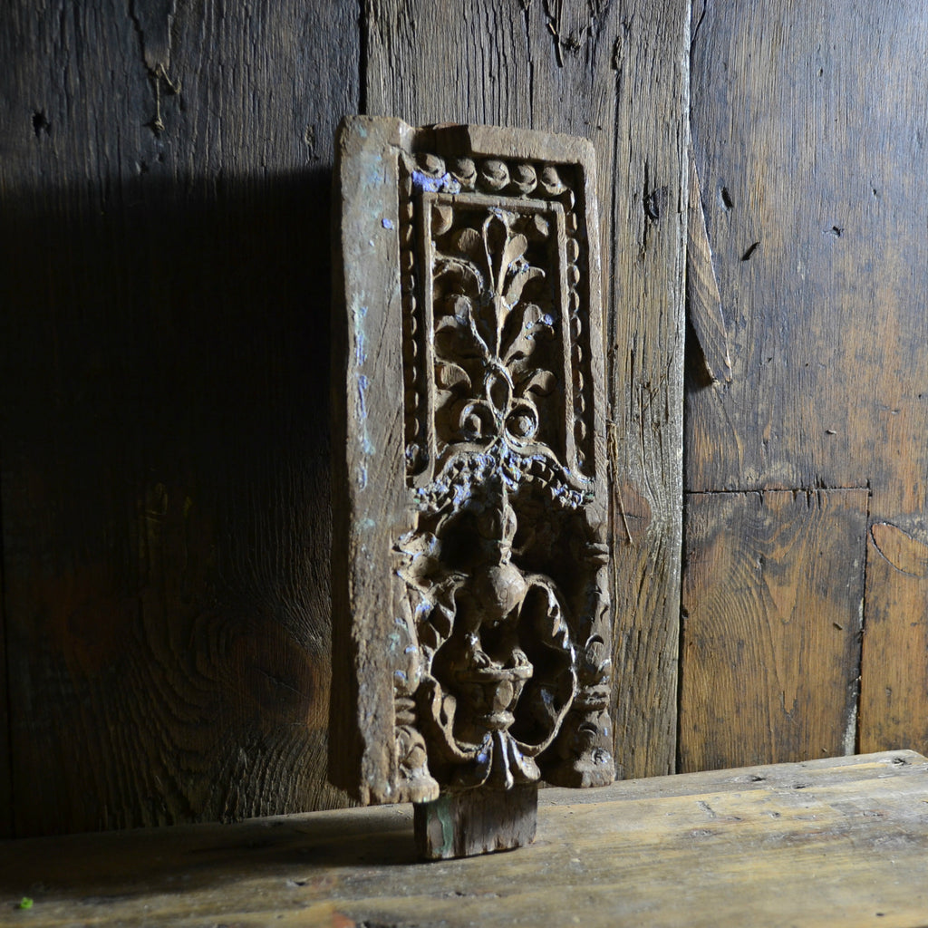 "Early 17th Century Peacock Wall Carving ""SOLD"""