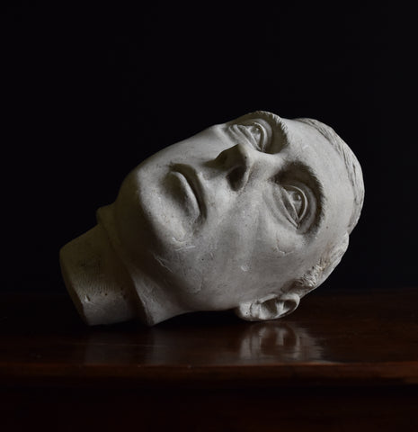 A Fine Sculpted Plaster Head of King George VI by Otakar Steinberger.