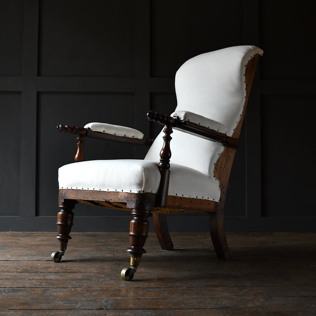 William IV Period Simulated Rosewood armchair. Upholstery Inclusive.