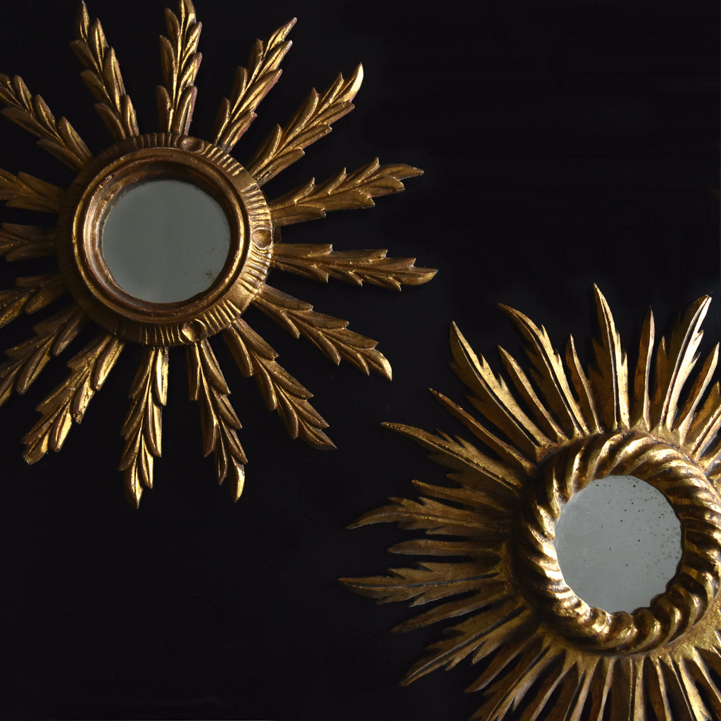Two French Gilt Wood Sunburst mirrors. 19th & 20th century