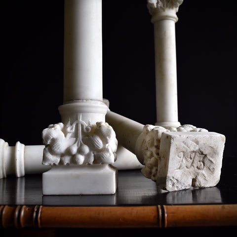 Four 19th Century Marble Corinthian Columns. 'RESERVED'