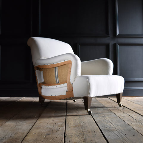 English Country House Armchair in the Manner of Howard & Sons. Upholstery Inclusive 'RESERVED'