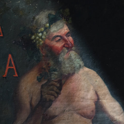 Charming 19th Century French Oil on Canvas  'Bacchus the God of Wine'