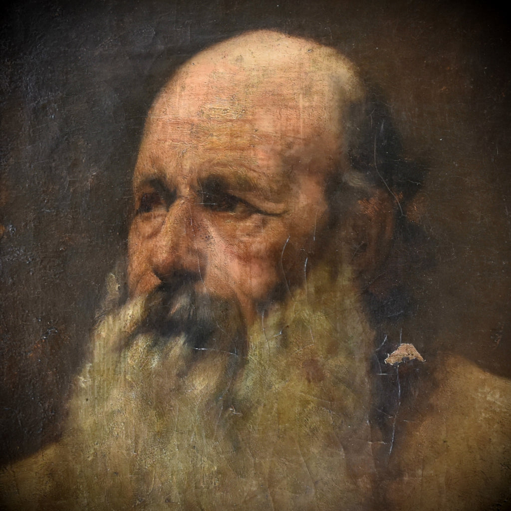 Fine 19th Century French Impressionist Portrait of a Bearded Man.