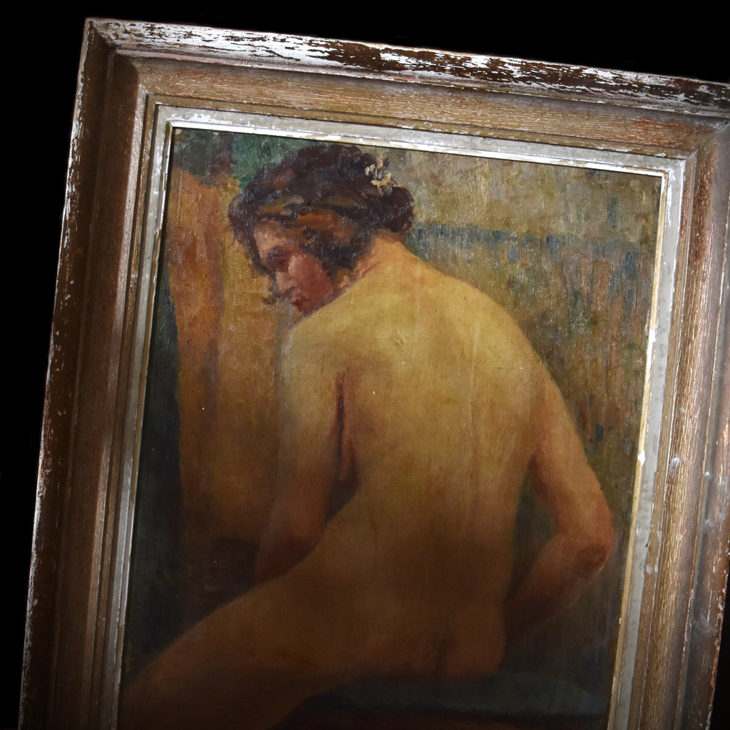 Wonderful Early 20th Century French School Study of a Seated Nude. Attributed to Pierre Bonnard.