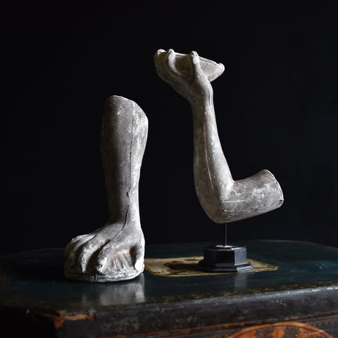 Pair of 19th Century English Cast Plaster Statue Arms.