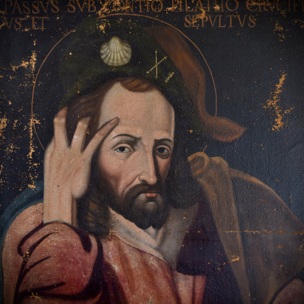 17th Century Italian Old Master Painting of the Apostle St James, Son of Zebedee.