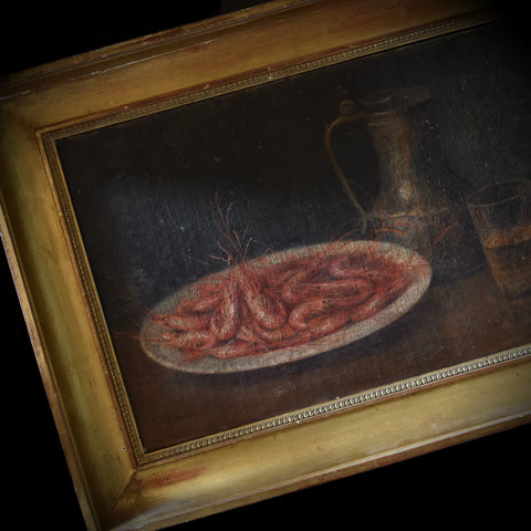 19th Century Continental Still Life Oil on Canvas.