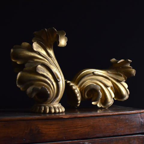 A pair of Early 19th century carved Gilt Wood Elements.