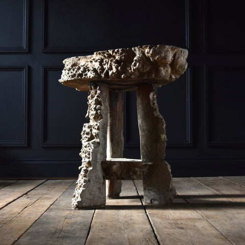 Outstanding 18th Century Burr Elm Grotto Table.