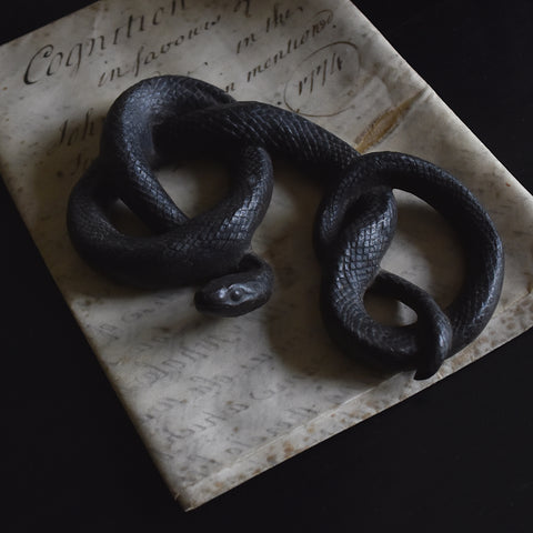 Unusual 19th Century Iron Snake Paperweight.