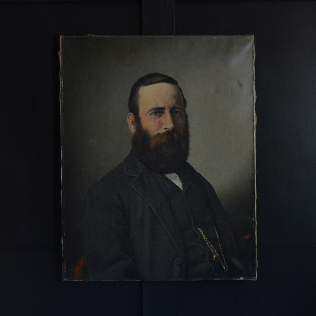 "Intriguing 19th Century Oil Portrait of a Ships Captain, by Luigi Renault ""Leghorn"" 1845–1877"