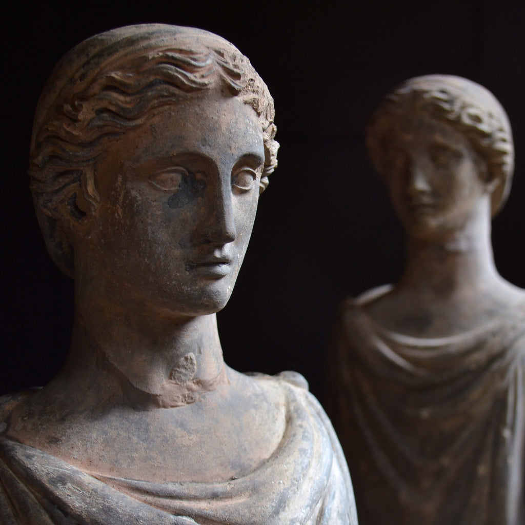 A Pair of Exceptional 18th Century Stone Caryatid Figures.