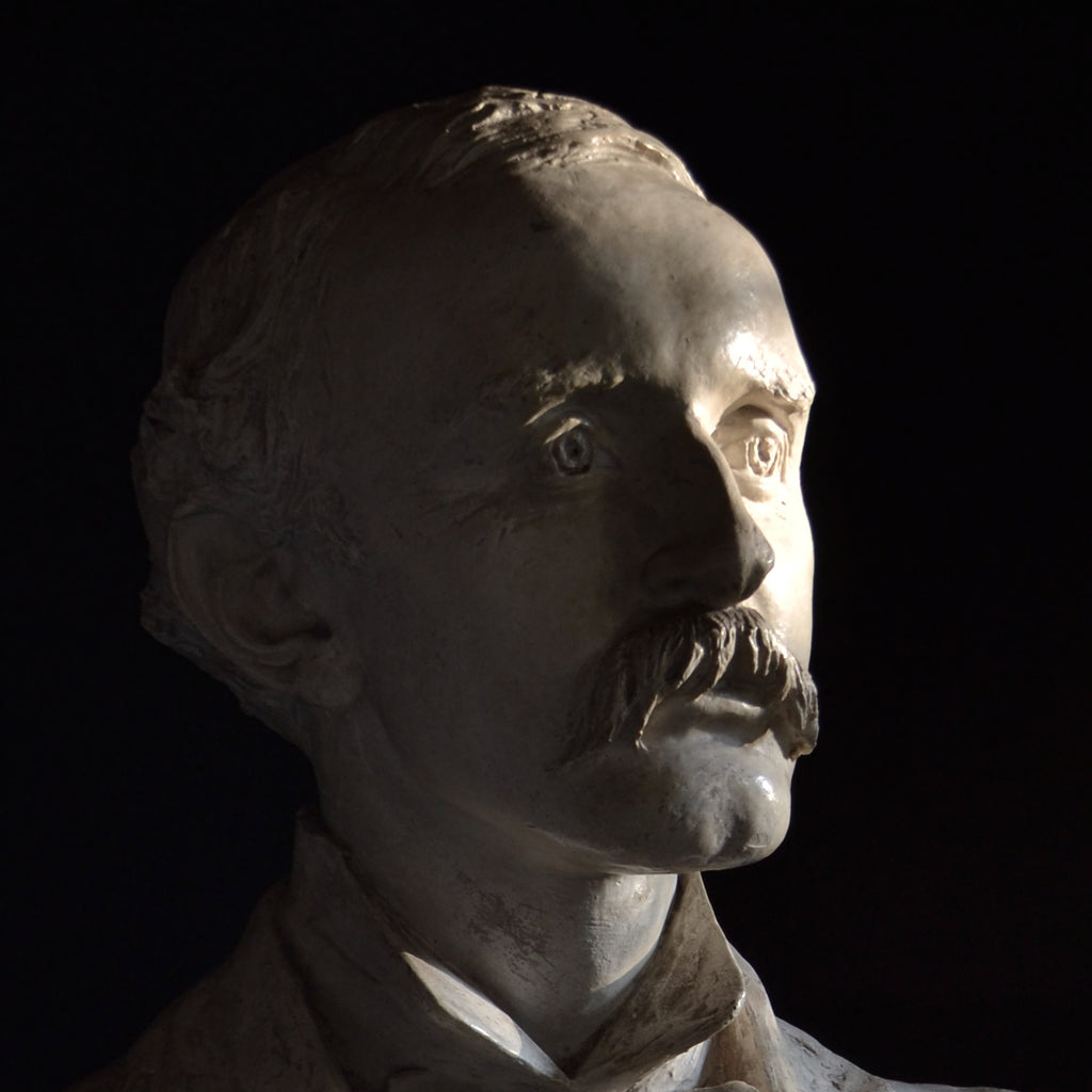 Large Impressive Plaster Bust of a Gentleman, Circa 1900.