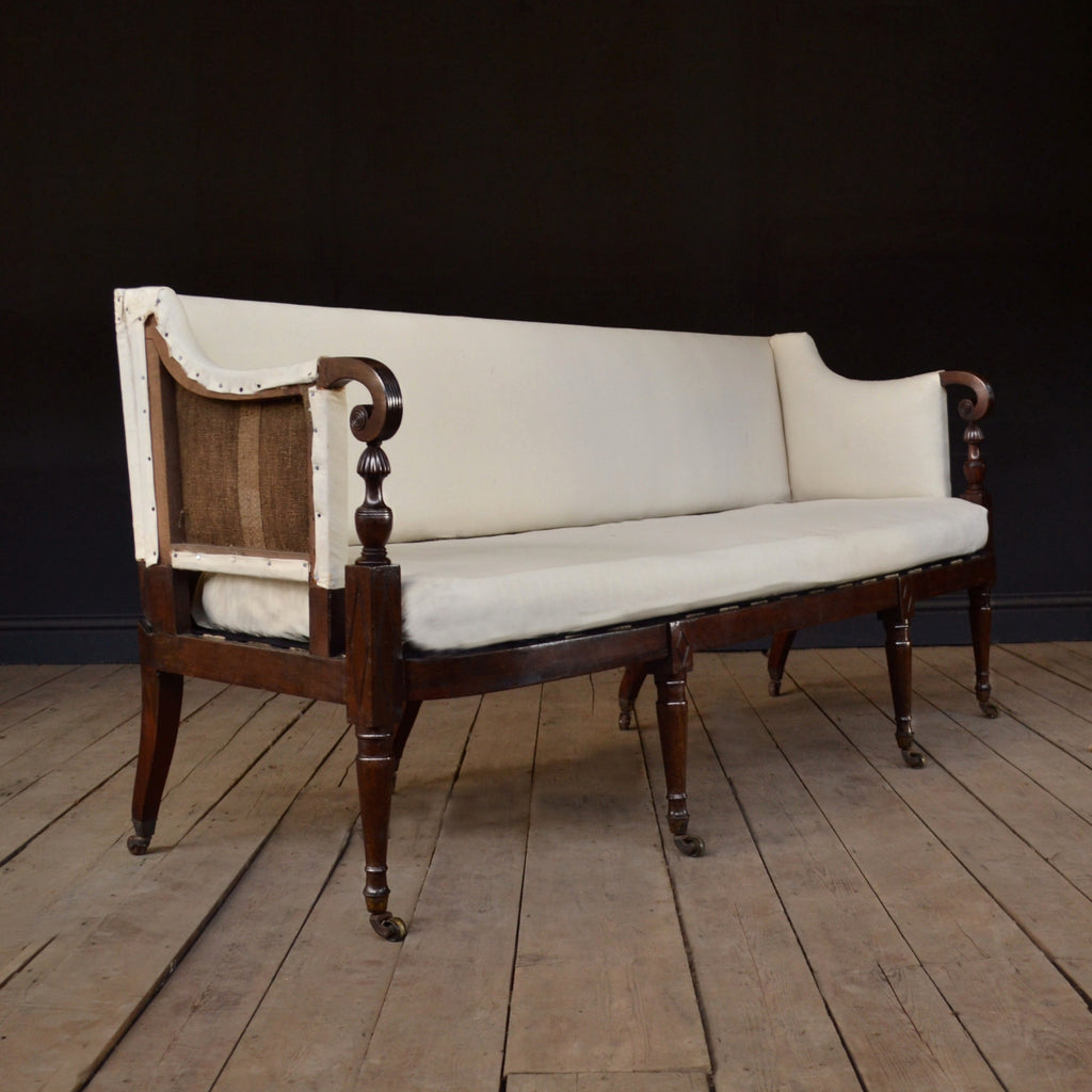 Elegant English Country House Regency Sofa, Circa 1790. Upholstery inclusive.