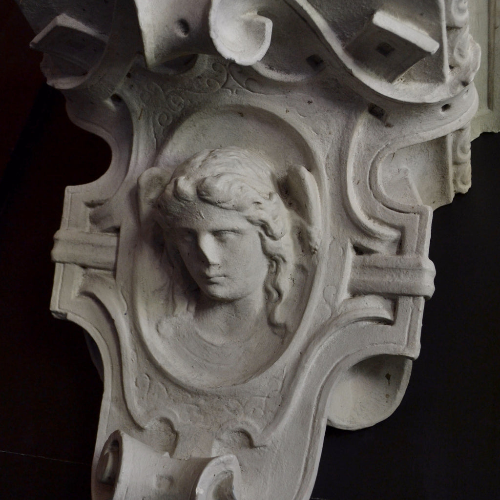 Large 19th Century French Architectural Plaster Corbel.