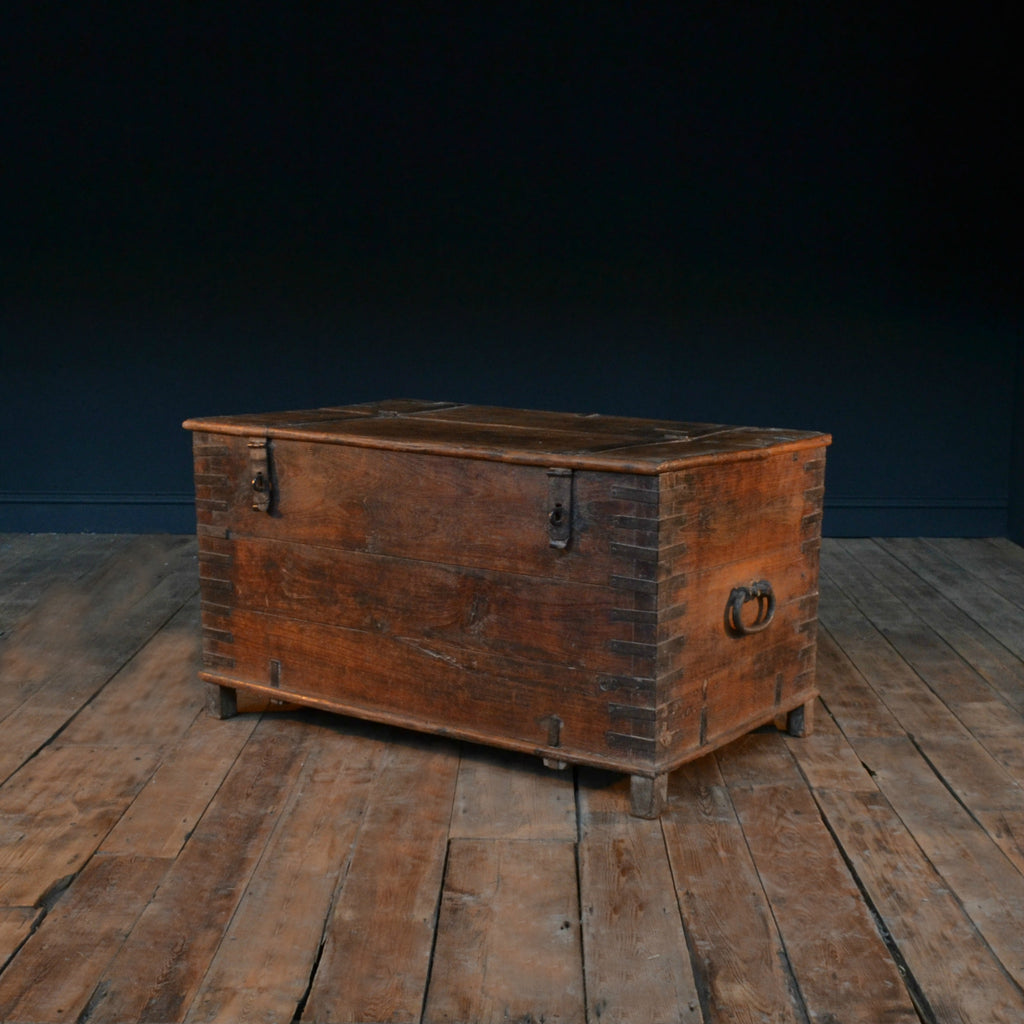 Early 19th Century Iron Bound Teak chest