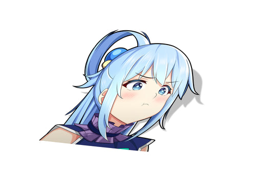 Aqua Pouting Kiss-Cut