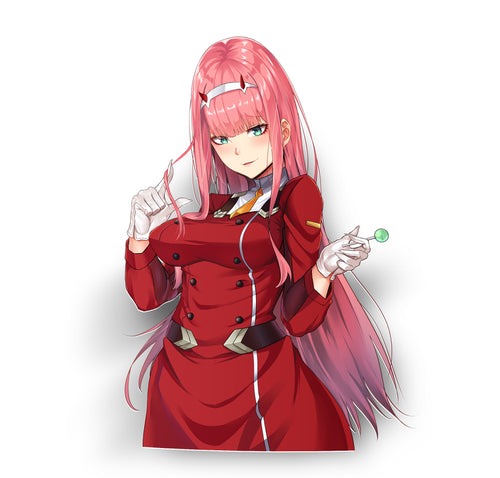 Zero Two Franxx Kiss-Cut
