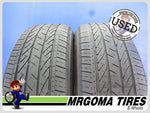 2 BRIDGESTONE DUELER H/P SPORT AS 225/60/18 USED TIRES 5.8/32 RMNG 100H 2256018