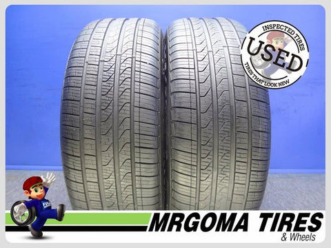 2 PIRELLI CINTURATO P7 A/S RFT XL 245/50/19 USED TIRES 8.2/32 RMNG BMW X3 2455019