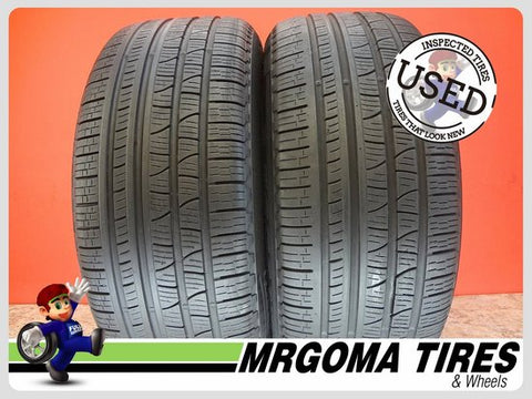 2 PIRELLI SCORPION VERDE A/S RFT XL 255/50/19 USED TIRES 8.1/32 RMNG BMW 2555019