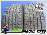 2 BRIDGESTONE ECOPIA EP422 PLUS 225/50/18 USED TIRES 7.6/32 RMNG MERCEDES 2255018