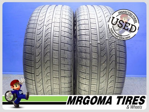 2 PIRELLI CINTURATO P7 A/S RFT XL 245/50/19 USED TIRES 8.5/32 RMNG BMW X3 2455019