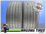 2 CONTINENTAL CROSSCONTACT LX SPORT AO 255/45/20 USED TIRES 9.3/32 RMNG 2554520