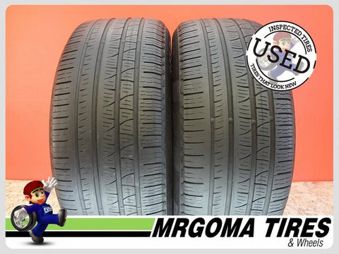 2 PIRELLI SCORPION VERDE A/S RFT XL 255/50/19 USED TIRES 6.7/32 RMNG BMW 2555019