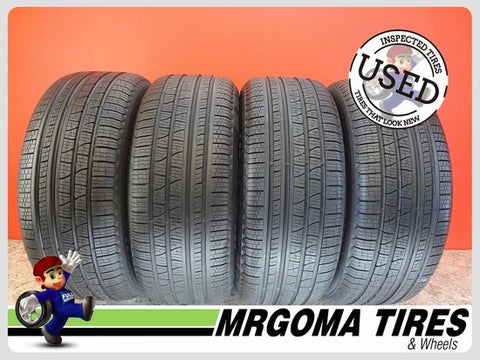 4 PIRELLI SCORPION VERDE A/S RFT XL 255/50/19 USED TIRES 9.1/32 RMNG BMW 2555019