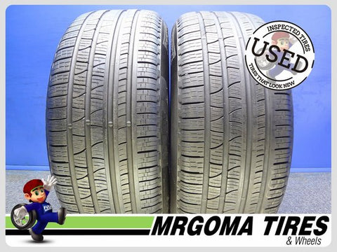 2 PIRELLI SCORPION VERDE A/S RFT XL 255/50/19 USED TIRES 8.5/32 RMNG BMW 2555019