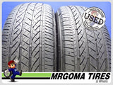 2 BRIDGESTONE TURANZA EL440 235/55/19 USED TIRES 7.5/32 RMNG MERCEDES 2355519