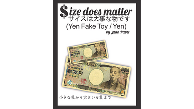 Size Does Matter J-YEN (Gimmicks and Online Instruction) by Juan Pablo Magic