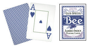 Cards Bee Poker Jumbo Index (Blue)